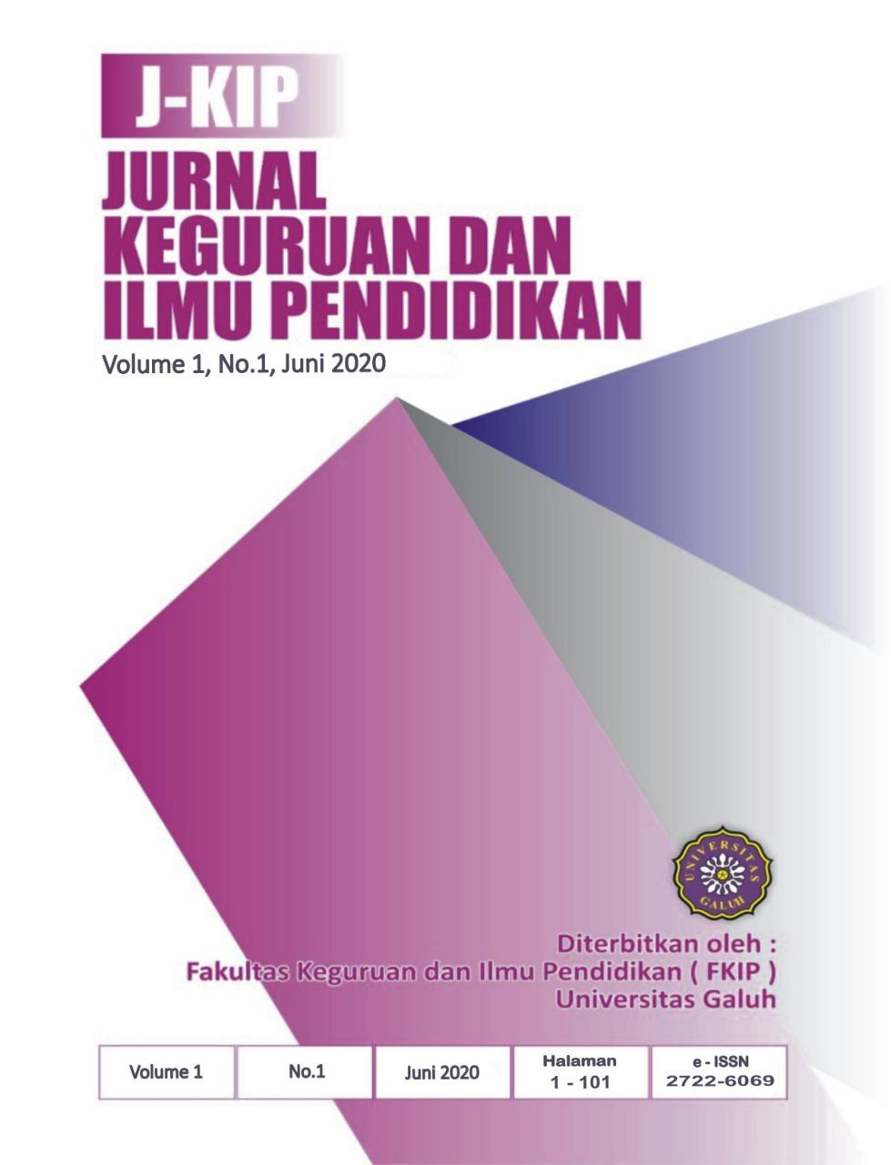 View Vol. 1 No. 1 (2020): J-KIP (Jurnal Keguruan dan Ilmu Pendidikan)