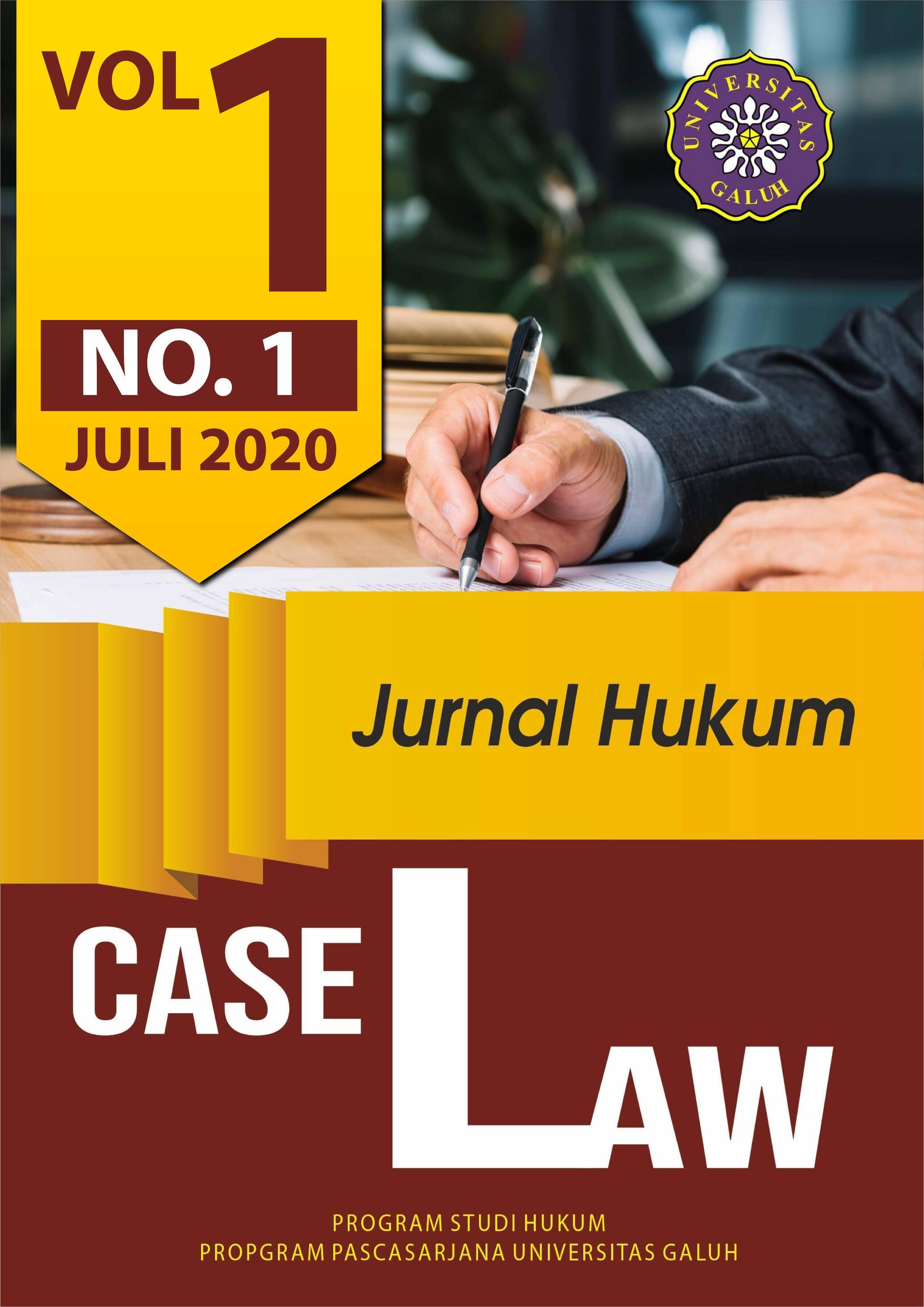 View Vol. 1 No. 1 (2020): Case Law
