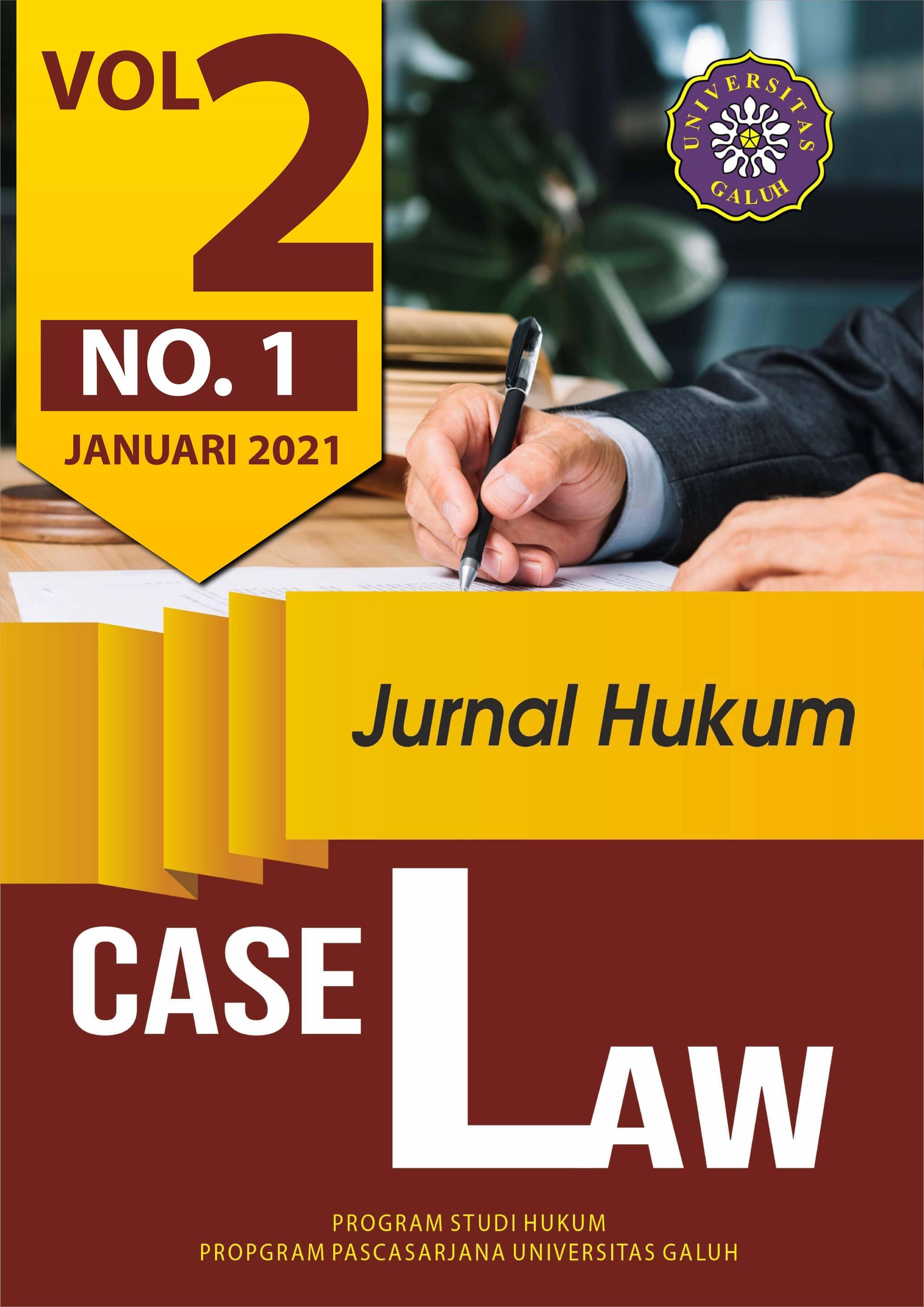 View Vol. 2 No. 1 (2020): Case Law